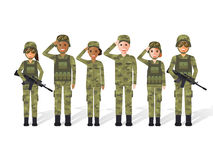 Militärt folk Royaltyfria Foton
