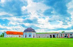 Militärt fort i Slavonski Brod Arkivbild