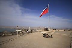 Militärt fort på Arica Chile Royaltyfria Foton