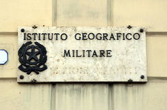 Militärt geografiskt institut royaltyfri fotografi