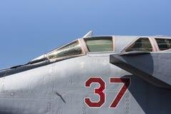 Militärt jaktplanflygplan Arkivbild