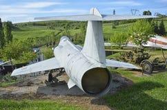 Militärt jaktplanflygplanet för F-104 Starfighter Arkivfoto