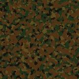 Militärt mörker - digital sömlös camo för grön skogsmark Arkivfoto