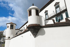 Militärt museum av den SaoLourenco slotten, Funchal, madeira, Portugal arkivbilder