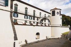 Militärt museum av den SaoLourenco slotten, Funchal, madeira, Portugal Arkivfoto