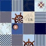 militärt patchworkhav för mode Arkivbild