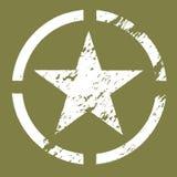 militärt stjärnasymbol Royaltyfri Foto