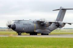 Militärt transportflygplan för flygbuss A400M Royaltyfri Foto