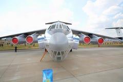 Militärt transportflygplan Il-76MD Royaltyfria Foton