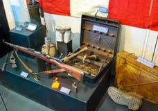 Militärt utrustningvärldskrig II Royaltyfria Bilder