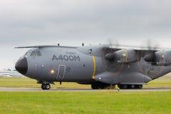 Militärtransportflugzeug Airbusses A400M Lizenzfreies Stockfoto