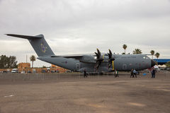 Militärtransportflugzeug Oyal-Luftwaffen-Airbusses A400M Lizenzfreies Stockfoto