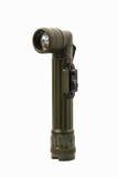 Militärwinkelkopftaschenlampe mit Beschneidungspfad Stockfotos