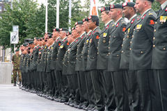 Militärzeremonie Stockfotografie