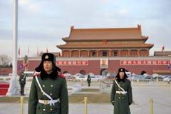 militär stand för guardguards arkivfoton