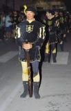Militair die een donderbusparade in brand steken Royalty-vrije Stock Afbeelding