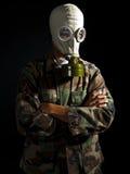 Militair in een kernapocalyps Royalty-vrije Stock Foto