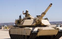 Militair in een tank Stock Afbeelding