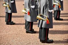 Militair eenvormig orkest royalty-vrije stock foto's