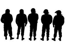 Militair in eenvormige drie Stock Foto's