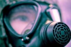 Militair gasmasker   Royalty-vrije Stock Afbeeldingen