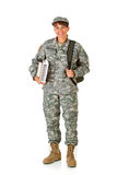 Militair: Gelukkig om naar School terug te keren Royalty-vrije Stock Foto's