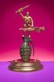Militair Grenade Display Stock Fotografie