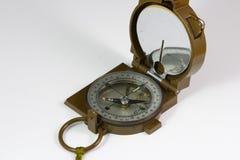 Militair kompas op witte achtergrond Royalty-vrije Stock Foto's