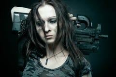 Militair meisje Royalty-vrije Stock Afbeelding