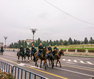 Militair met mooi paard Royalty-vrije Stock Fotografie