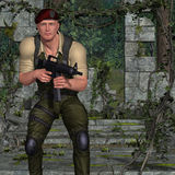 Militair met wapen Royalty-vrije Stock Foto