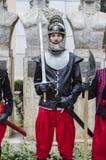 Militair met zwaard en pantser Royalty-vrije Stock Afbeelding