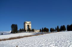 Militair monument in Asiago hoogland - 2015 Stock Foto's