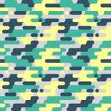 Militair naadloos patroon De achtergrond van de camouflage De Textuur van de Camomanier Amerikaanse Militair stock illustratie