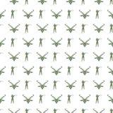 Militair naadloos patroon met militairen en kanonnen royalty-vrije illustratie