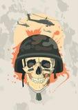 Militair ontwerp met schedel. stock illustratie