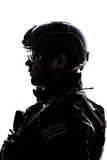Militair op witte achtergrond royalty-vrije stock afbeelding