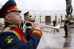 Militair orkest op ceremonie Stock Fotografie