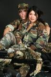 Militair Paar royalty-vrije stock fotografie