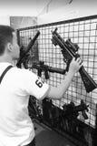 Militair persoonlijk wapen Stock Foto