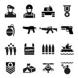 Militair pictogram royalty-vrije illustratie