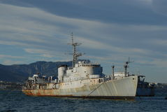 Militair schip Stock Afbeeldingen