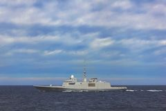 Militair schip Stock Fotografie