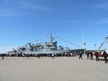 Militair schip Stock Foto's