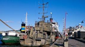 Militair schip, Gothenburg - Zweden Stock Afbeelding