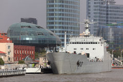 Militair schip in Shanghai, China Stock Afbeelding