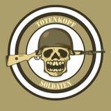 Militair Skeleton Illustration Stock Afbeelding