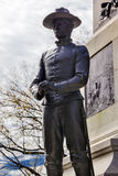Militair Statue General Sherman Civil War Memorial Washington gelijkstroom Stock Afbeelding