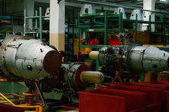 Militair straalonderhoud, hangaar Royalty-vrije Stock Afbeelding