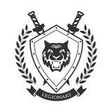 Militair symbool, legionair` s kenteken vector illustratie